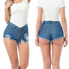 Summer Womens HIGH WAIST SHORTS Tassel Slim Jeans Casual Denim Ripped Hot Pants