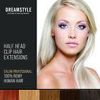 Half Head Clip In Real Remy Human Hair Extensions Free Uk Delivery