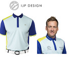 New Mens IJP Performance Golf Ian Poulter SHARD Tour Polo Shirt Top Turquoise XL