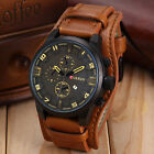 Fashion Curren Men Date Stainless Steel Leather Analog Quartz Sport Wrist Watch фото