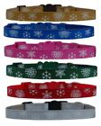 "Gold blue pink   ""WINTER  SNOWFLAKE  "" chihuahua dog puppy collar & or lead"