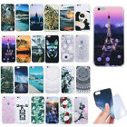 Fashion Ultra-thin Painted Slim TPU Silicone Soft Case Cover For Samsung Huawei