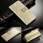 Leather Magnetic Flip Case Bling Wallet Cover for Samsung Galaxy S6 Edge S5 Note