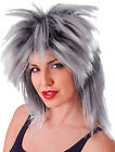 Ladies Fancy Dress 1980s Party Tina Two Tone Glam Rock Fake & Artificial Wig UK