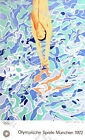 1972 Munich Olympics Diving Poster A3/A4 Print