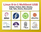 Linux OS Collection 8-in-1 Multiboot USB Bootable Flash Drive Operating System