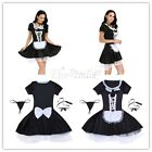 Women French Maid Costume Cute Outfit Cosplay Maidservant Apron Outfits Dress
