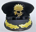 P & O MARINE SHIP LINE CAPTAIN BLACK HAT CAP NEW MOST SIZES EXCELLENT CP MADE