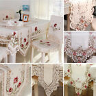 Table Runner Embroidered Floral Lace Fabric Translucent Gauze Table Cloth Decor