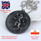 Game of Thrones Jewellery Lannister Lion Antique Silver Pendant Necklace