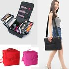 Profession 3 Layers Makeup Bags Cosmetics Brushes Tools Storage Jewelry Holder