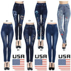 Usa Women Skinny Jeggings Stretchy Pants Leggings Jeans Pencil Tight Trousers