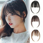 Natural Clip In Front Thin Bangs Hairpiece Straight Real Human Hair Extension
