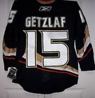 GETZLAF Anaheim Ducks Reebok EDGE Authentic 10 7187 Home Black Jersey