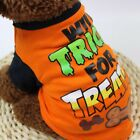 Halloween Funny Pet Printing T-shirt Puppy Make Up Dress Party Costume Decor