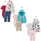 Baby Girl Carter's Peplum Hoodie Bodysuit Set NB 3 6 9 12 18 24 Month Outfit NEW