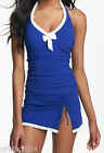 Gottex Profile Black Tie Skirted Tankini Top Only D-Cup Swimsuit NWT $98 Blue