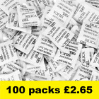 1g Silica Gel Desiccant Factory Fresh Sachets Choose 50,100,200 or 500
