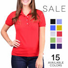 Jerzees Women's SpotShield Short Sleeve Solid Polo Shirt 437W golf tennis casual