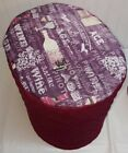 Burgundy Quilted Purple Wine Large Food Processor Cover READY TO SHIP!!