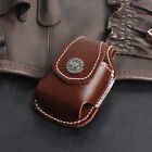 Leather Brown Cigarette Lighter Pouch Case Box Holder With Belt Loop Waist Bag