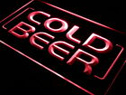 "16""x12"" i348-r Cold Beer Bar Pub Club OPEN NEW Neon Sign"