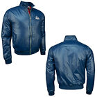 Lonsdale LAD Shiny Nylon Harrington Bomber Jacket Thermore Padded Blue Slim-Fit