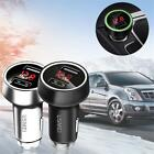 Fast Charger Dual USB Car w/ LED Breathing Light For iPhone Smartphones ED