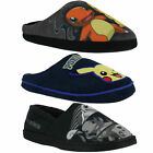 Mens Pokemon Pikachu Bulbasaur Charmander Mule Cushioned Slippers Sizes 7 to 12