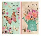 Tallon 2018 Slim Pocket Diary Vintage Flowers or Butterflies Week to View