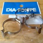 NEW Set 3 Dia Compe Chrome Top Tube Brake Cable Housing Clips Clamps Guides NIP!