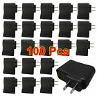 100 Pcs 1.0A Travel Home Universal USB Wall Charger for Apple HTC LG Samsung