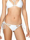 Womens Tie Sides Cheeky Bikini Bottoms Brazilian Swimsuit  Micro Thongs Cut Out