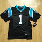 Nike Cam Newton 1 Carolina Panthers 2017 Black Men Stiched Elite Jersey 40 56