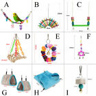 Bird Parrot Chew Swing Cage Climb Ladder Scratcher Bites Toy Hammock Hanging Bed