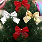 Pretty Bow Bowknots Christmas Tree Ornament Festival Party Garden Decoration