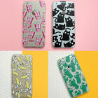 Coque Yeux Se Déplacent Chat silicone TPU gel housse iPhone 4 5s 5C 6 7 8 X plus