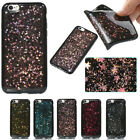 Shockproof Bling Glitter Soft Black Silicone TPU Rubber Case For iPhone Samsung