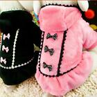 Pet Dog Winter Warm Hoodie Coat Puppy Cat Princess Bow Jacket Outwear Apparel