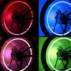 4PCS LED Wheel Tyre Tire Valve Caps Neon Light Bulb for Car Motorcycle Red/Green