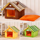 Pet Dog Cat House Bed Portable Puppy Dog Kennel Cave Nest Igloo Pad Cozy Cushion