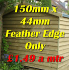 """6"""" Treated Rebated Featheredge Cladding Boards Tanelised see postcode chart"""