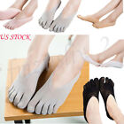 5 Pairs Socks Arrival Five Toe Sock Slippers Invisibility For Solid Color Socks