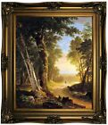 Durand The Beeches 1845 Framed Canvas Print Repro 20x24