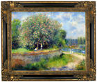 Renoir Chestnut in Blossom 1881 Framed Canvas Print Repro 16x20