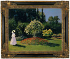 Monet Women in the Garden 2 Framed Canvas Print Repro 16x20