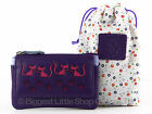 Ladies CATS LEATHER Coin PURSE WALLET by Mala; Poppy Collection Paw Prints Zips