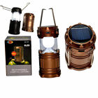 6 LED Hand Camping Tent Lantern Portable Outdoor Solar Rechargeable Night Light