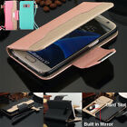 Samsung Galaxy Note8 S8 Plus S7 S6 Hybrid Wallet Case Flip Leather Stand Cover