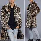 New Mens Faux Fur Warm Thick Jacket Coat Trench Overcoat Outwear Parka PLUS SIZE